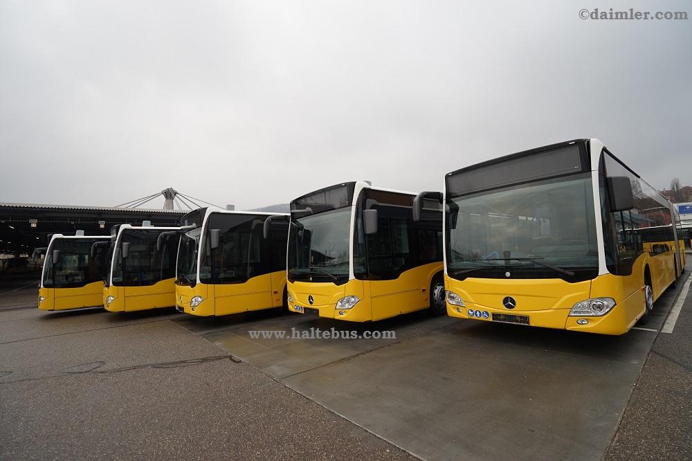 Lima Bus Citaro G Hybrid Mercedes-Benz Pertama Untuk Stuttgart