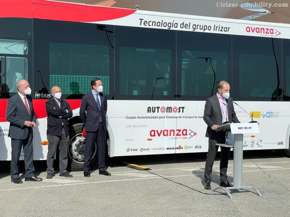 Bus Otonom Pertama Dari Irizar Beroperasi Penuh di Malaga